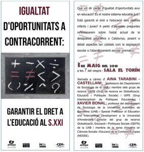 igualtat d'oportunitats a contracorrent(1)